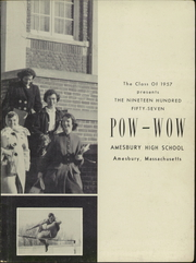 Amesbury High School - Pow Wow Yearbook (Amesbury, MA) online yearbook collection, 1957 Edition, Page 5
