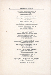 Page 10, 1889 Edition, Amherst College - Olio Yearbook (Amherst, MA) online yearbook collection