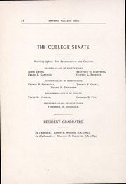 Page 14, 1889 Edition, Amherst College - Olio Yearbook (Amherst, MA) online yearbook collection