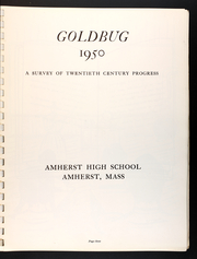 Amherst Regional High School - Goldbug Yearbook (Amherst, MA) online yearbook collection, 1950 Edition, Page 5 of 84