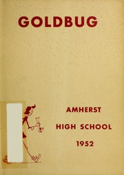 Amherst Regional High School - Goldbug Yearbook (Amherst, MA) online yearbook collection, 1952 Edition, Cover