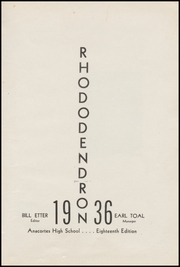 Page 7, 1936 Edition, Anacortes High School - Rhododendron Yearbook (Anacortes, WA) online yearbook collection