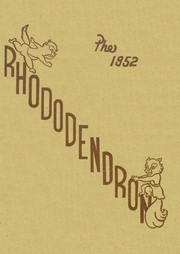 Anacortes High School - Rhododendron Yearbook (Anacortes, WA) online yearbook collection, 1952 Edition, Cover