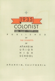 Page 13, 1935 Edition, Anaheim Union High School - Colonist Yearbook (Anaheim, CA) online yearbook collection