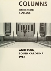 Anderson College - Columns / Sororian Yearbook (Anderson, SC) online yearbook collection, 1967 Edition, Page 5