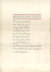 Page 6, 1938 Edition, Anderson High School - Indian Yearbook (Anderson, IN) online yearbook collection
