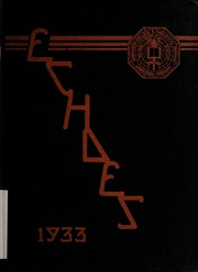 Anderson University - Echoes Yearbook (Anderson, IN) online yearbook collection, 1933 Edition, Cover