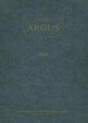 Anderson Valley High School - Argus Yearbook (Boonville, CA) online yearbook collection, 1926 Edition, Cover