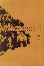 Andrean High School - Decussata Yearbook (Merrillville, IN) online yearbook collection, 1971 Edition, Cover