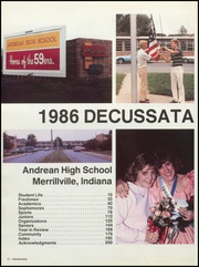 Page 6, 1986 Edition, Andrean High School - Decussata Yearbook (Merrillville, IN) online yearbook collection