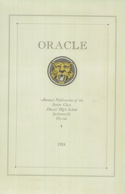 Page 11, 1924 Edition, Andrew Jackson High School - Oracle Yearbook (Jacksonville, FL) online yearbook collection