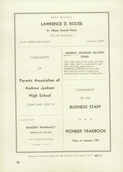 Andrew Jackson High School - Pioneer Yearbook (Cambria Heights, NY) online yearbook collection, 1951 Edition, Page 82