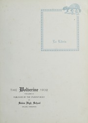 Andrew Lewis High School - Pioneer Yearbook (Salem, VA) online yearbook collection, 1932 Edition, Page 5