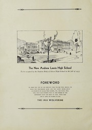 Andrew Lewis High School - Pioneer Yearbook (Salem, VA) online yearbook collection, 1933 Edition, Page 4