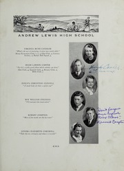 Andrew Lewis High School - Pioneer Yearbook (Salem, VA) online yearbook collection, 1934 Edition, Page 17