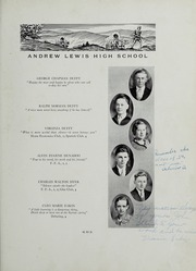 Andrew Lewis High School - Pioneer Yearbook (Salem, VA) online yearbook collection, 1934 Edition, Page 19
