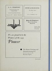 Andrew Lewis High School - Pioneer Yearbook (Salem, VA) online yearbook collection, 1935 Edition, Page 71 of 76