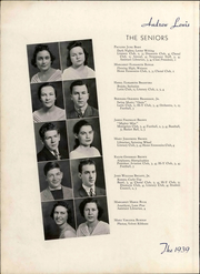 Andrew Lewis High School - Pioneer Yearbook (Salem, VA) online yearbook collection, 1939 Edition, Page 20 of 116
