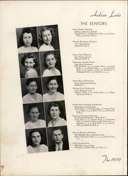 Andrew Lewis High School - Pioneer Yearbook (Salem, VA) online yearbook collection, 1939 Edition, Page 30 of 116