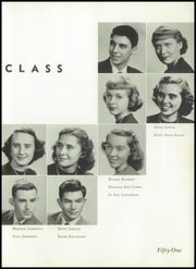 Andrew Lewis High School - Pioneer Yearbook (Salem, VA) online yearbook collection, 1951 Edition, Page 37