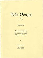 Page 9, 1927 Edition, Ann Arbor High School - Omega Yearbook (Ann Arbor, MI) online yearbook collection