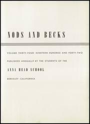 Page 7, 1942 Edition, Anna Head School for Girls - Nods and Becks Yearbook (Berkeley, CA) online yearbook collection