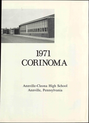 Page 9, 1971 Edition, Annville Cleona High School - Corinoma Yearbook (Annville, PA) online yearbook collection