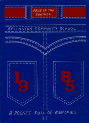 Aplington Community School - Panther Yearbook (Aplington, IA) online yearbook collection, 1985 Edition, Cover