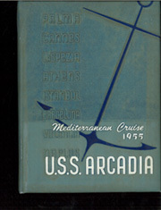 Arcadia (AD 23) - Naval Cruise Book online yearbook collection, 1955 Edition, Cover