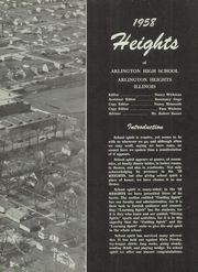 Page 11, 1958 Edition, Arlington High School - Heights Yearbook (Arlington Heights, IL) online yearbook collection