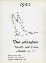 Page 7, 1954 Edition, Arlington High School - Honker Yearbook (Arlington, OR) online yearbook collection