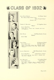 Page 16, 1932 Edition, Arlington High School - Indian Yearbook (Arlington, MA) online yearbook collection