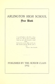 Page 7, 1932 Edition, Arlington High School - Indian Yearbook (Arlington, MA) online yearbook collection