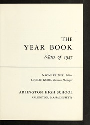 Page 7, 1947 Edition, Arlington High School - Indian Yearbook (Arlington, MA) online yearbook collection