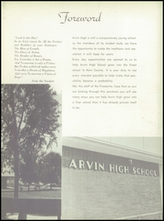 Page 7, 1957 Edition, Arvin High School - Praeterita Yearbook (Arvin, CA) online yearbook collection