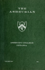 Ashbury College - Ashburian Yearbook (Ottawa, Ontario Canada) online yearbook collection, 1961 Edition, Cover