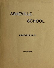Asheville School - Blue and White Yearbook (Asheville, NC) online yearbook collection, 1924 Edition, Cover