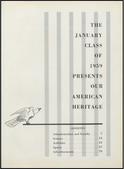 Barringer High School - Athenaeum Yearbook (Newark, NJ) online yearbook collection, 1959 Edition, Page 5 of 248