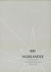 Page 7, 1961 Edition, Bel Air High School - Highlander Yearbook (El Paso, TX) online yearbook collection