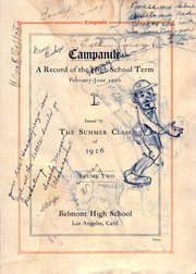 Belmont High School - Campanile Yearbook (Los Angeles, CA) online yearbook collection, 1926 Edition, Page 7 of 134