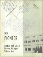 Bentley High School - Pioneer Yearbook (Livonia, MI) online yearbook collection, 1959 Edition, Page 5 of 186
