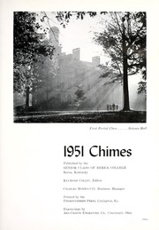 Berea College - Chimes Yearbook (Berea, KY) online yearbook collection, 1951 Edition, Page 7