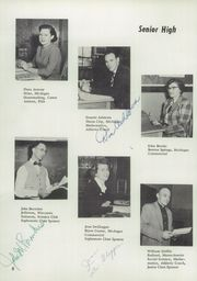 Berrien Springs High School - Canoe Yearbook (Berrien Springs, MI) online yearbook collection, 1955 Edition, Page 12