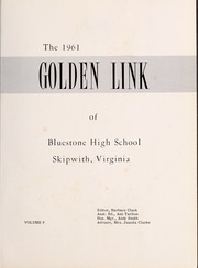 Bluestone High School - Golden Link Yearbook (Skipwith, VA) online yearbook collection, 1961 Edition, Page 5