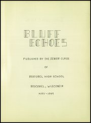 Boscobel High School - Bluff Echoes Yearbook (Boscobel, WI) online yearbook collection, 1949 Edition, Page 5