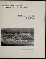 Broome Community College - Citadel Yearbook (Binghamton, NY) online yearbook collection, 1968 Edition, Page 5