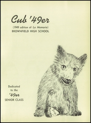 Brownfield High School - Cub Yearbook (Brownfield, TX) online yearbook collection, 1949 Edition, Page 5