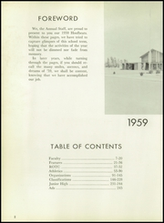 Burges High School - Hoofbeats Yearbook (El Paso, TX) online yearbook collection, 1959 Edition, Page 6