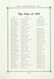 Burlington Community High School - Pathfinder Yearbook (Burlington, IA) online yearbook collection, 1921 Edition, Page 68