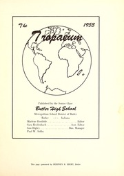 Butler High School - Tropaeum Yearbook (Butler, IN) online yearbook collection, 1953 Edition, Page 5